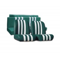 3833 Kit rivestimenti skai verde a righe bianche mehari