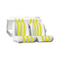 3836 Kit rivestimenti skai bianco a righe gialle mehari