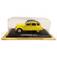 Modellino Citroen 2cv giallo