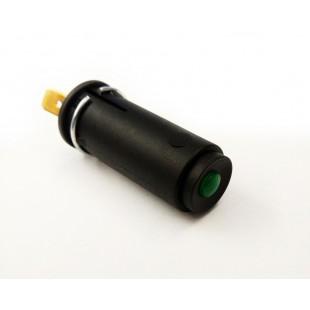 281 spia cruscotto nera lente verde