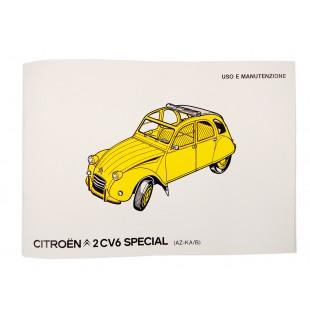 5402 Uso e manutenzione 2CV6 SPECIAL