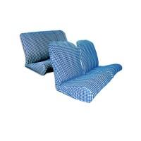 1844 Kit rivestimenti sedili ant. angolo tondo + panca post. Pied de poule blu(tessuto q. inf.)