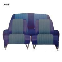 4806 Kit 2 sedili singoli + panca posteriore AMI6 Club Blu diamante (non ribaltabili)