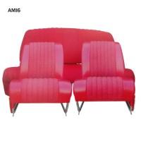 4808 Kit 2 sedili singoli + panca posteriore AMI6 Club Rosso diamante (non ribaltabili)