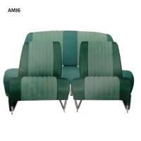 4810 Kit 2 sedili singoli + panca posteriore AMI6 Club Verde diamante (non ribaltabili)