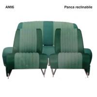 4811 Kit 2 sedili singoli + panca posteriore AMI6 Club Verde diamante (ribaltabili)