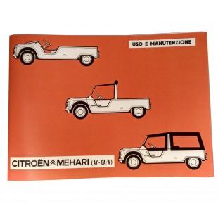 """5404 Libretto """"Uso e manutenzione"""" MEHARI"""