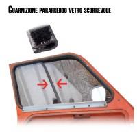 2319 Guarnizione parafreddo con feltro vetri scorrevoli porta anteriore Dyane