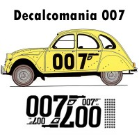 1732 Kit decalcomania 2CV 007