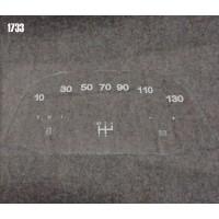 Vetrino contakm stampato 2CV (12V Jaeger 130 KM/h)