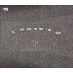 1733 Vetrino contakm stampato 2CV (12V Jaeger 130 KM/h)