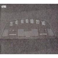 4703 Vetrino contakm stampato AMI6 (12V VEGLIA fondoscala 140 KM/h)