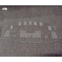 4705 Vetrino contakm stampato AMI6 (12V JAEGER fondoscala 130 KM/h)