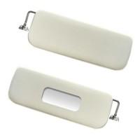 5400 Coppia parasoli bianco avorio (materiale come d'origine) 2CV - Dyane (supporti metallici)