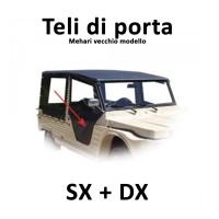 3631 Kit teli di porta completi (totali) sx + dx per Mehari vecchio modello