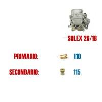 5063 Serie getti per carburatore 26/18 (primario 110, secondario 115)