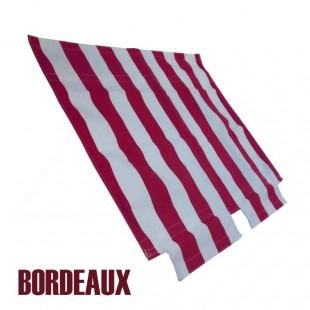 1683 Tenda capote parasole righe bianche-bordeaux 2CV per chiusura esterna (barra anteriore fissaggio inclusa) prod. NPM