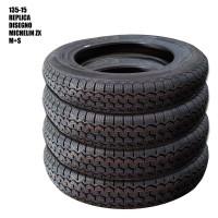 5309 Lotto 4 pneumatici 135-15 replica con disegno Michelin ZX M+S (5308x4)